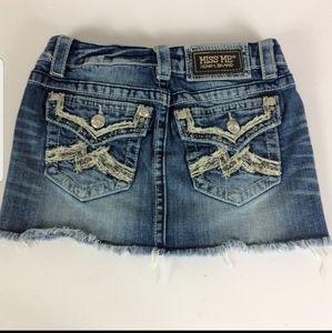 Miss Me Denim Blue Jean Skirt JE105313  Sz 00